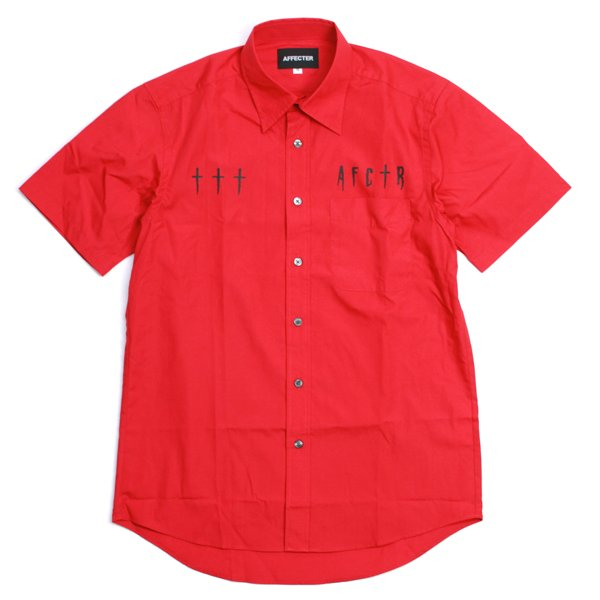画像1: CROSS UP Work Shirts (Red) (1)