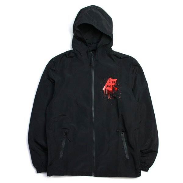 画像1: AFF TM HOOD JKT (Black/Red)(Tomo) (1)