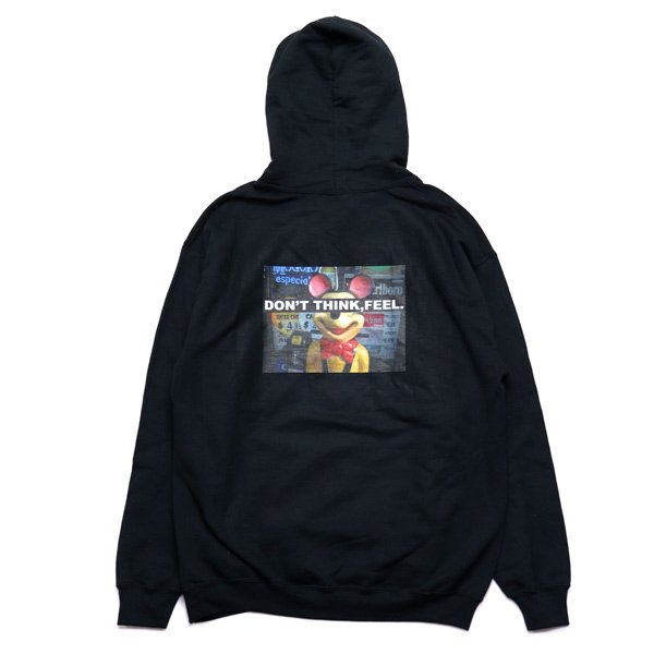 画像1: Don't Think Pull Hoodie (Black) (1)